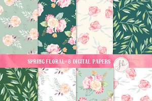 Spring Floral - Digital Papers