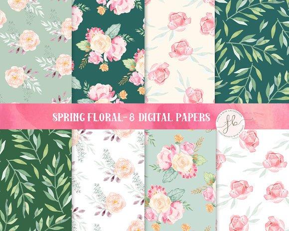 Spring Floral - Digital Papers