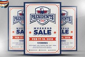 Presidents Day Flyer Template v1