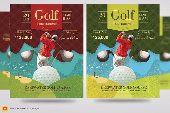 Golf Flyer Template Flyer Templates Creative Market
