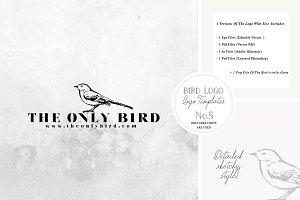 Bird Logo -Sketchy Artistic style 5
