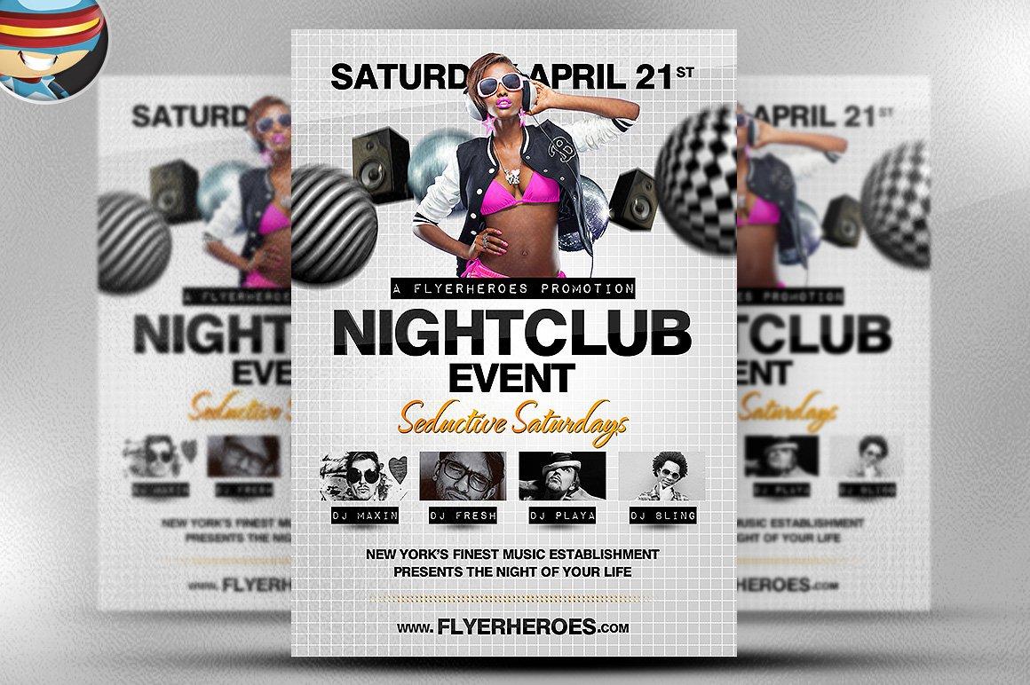 Nightclub Flyer Template ~ Flyer Templates ~ Creative Market