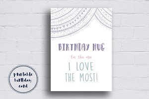 Elegant Purple Birthday Card