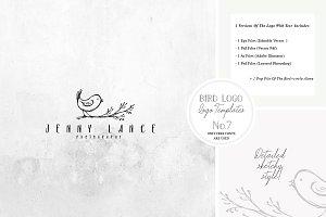 Bird Logo -Sketchy Artistic style 7