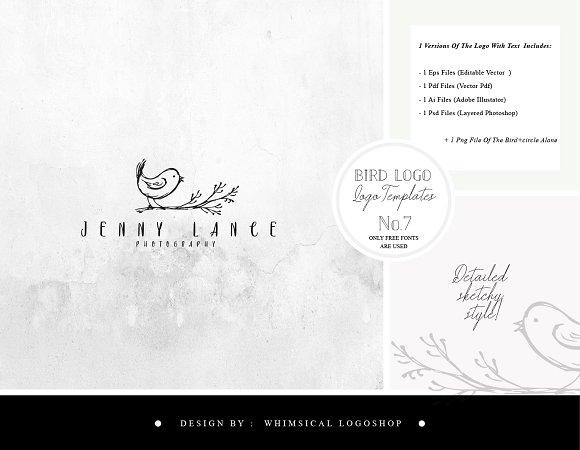 Bird Logo Sketchy Artistic Style 7
