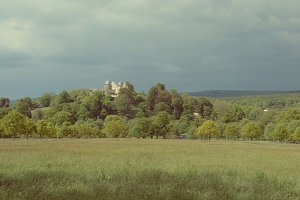Castle in germany before a storm