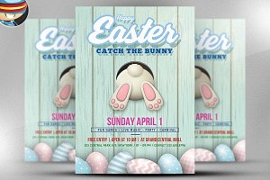 Easter Party Flyer Template v4