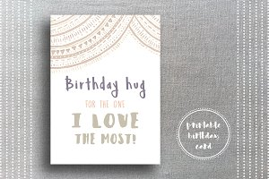 Neutral Birthday Card