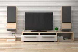 Smart TV in modern living room