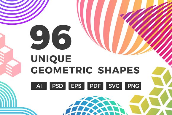 96 Unique Geometric Shapes