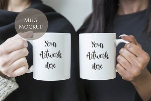 Double Mug Mockup