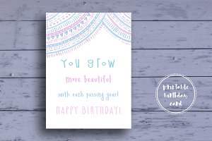 Birthday Card for Girls