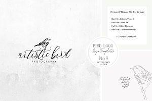 Bird Logo -Sketchy Artistic style 9