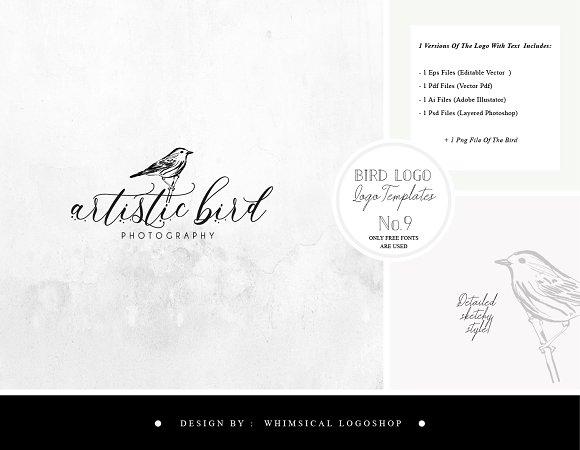 Bird Logo Sketchy Artistic Style 9
