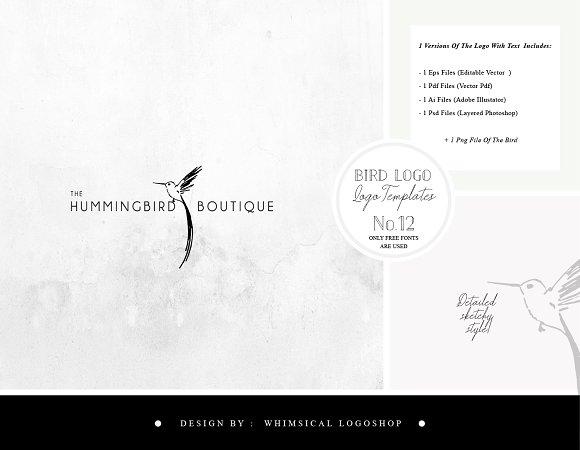 Bird Logo Sketchy Artistic Style 12