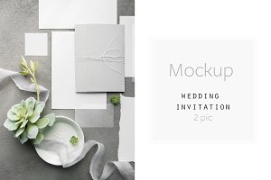 Mockup Wedding Invitation Bundle