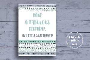 Cute Tribal Birthday Card