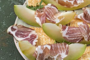 Prosciutto with fresh melon