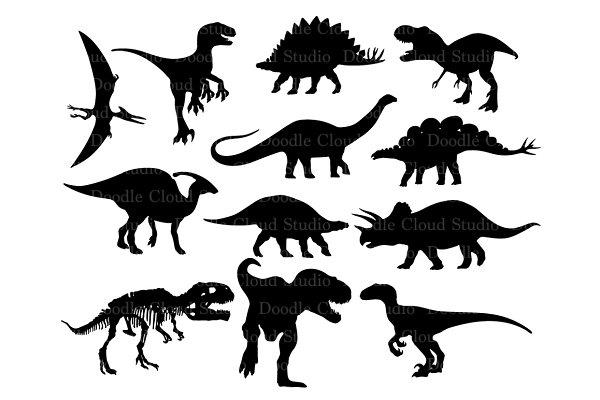 Dinosaur Svg Dinosaur Monogram Files Pre Designed Photoshop Graphics Creative Market