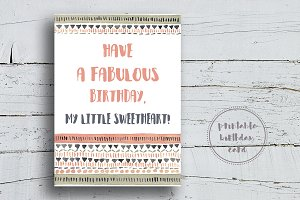 Tribal Birthday Card