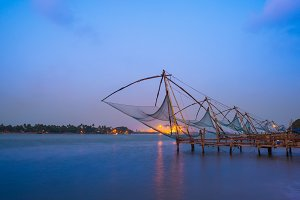 Kochi chinese fishnets in twilight