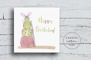 Cute Colorful Birthday Card