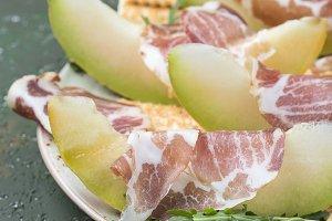 Prosciutto with fresh melon