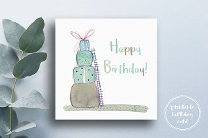 Cute Colorful Birthday Card
