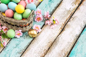 Easter eggs. Festive decoration