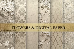 Flowers & Digital Paper