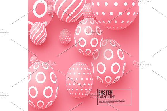 Abstract Easter Pink Background