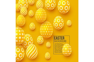 Abstract Easter yellow background.