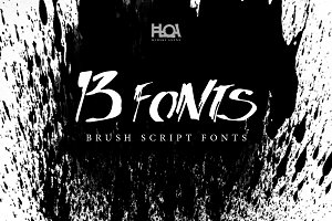 13 BRUSH SCRIPT FONTS