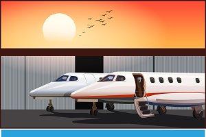 Modern business jet mini Set