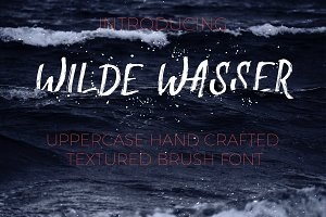 Wilde Wasser - Textured Brush Font
