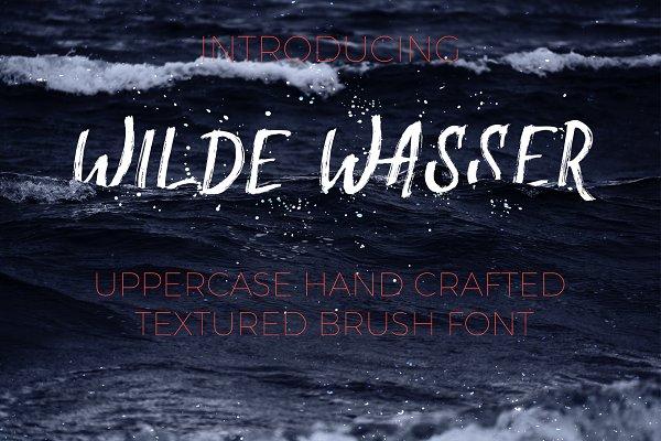 Best Wilde Wasser - Textured Brush Font Vector
