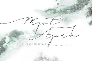 MystApah Delicate Freestyle Fonts