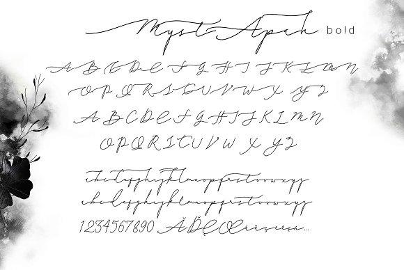 MystApah Delicate Freestyle Fonts Script Creative Market