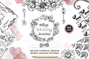 Vintage Wedding - Hand Drawn Set