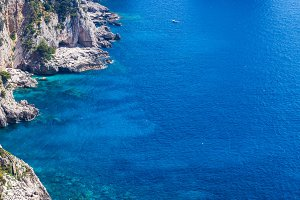 Amazing Faraglioni cliffs panorama