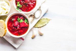 Red borscht - Ukrainian cuisine