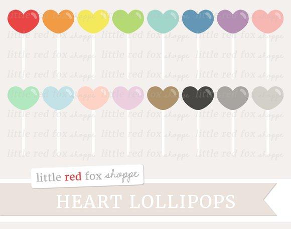 Heart Lollipop Clipart