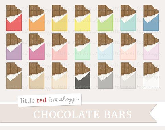 Bitten Chocolate Bar Clipart