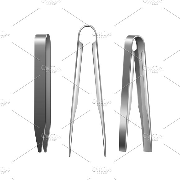 Three Metal Hookah Tongs