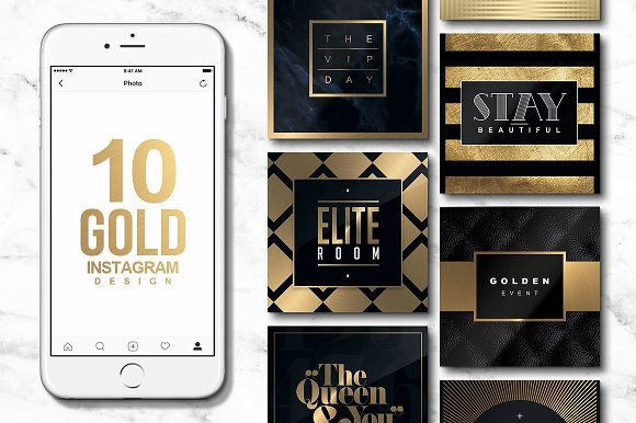 10 INSTAGRAM GOLD Templates