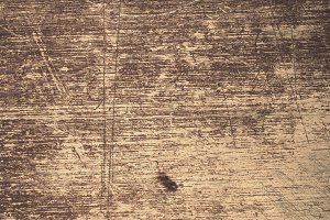 Scratched Wood Surface