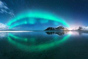 Aurora. Northern lights in Lofoten
