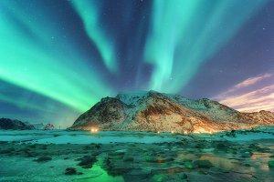 Aurora. Nothern lights in Lofoten