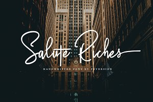 Salute Riches - Handwritten Font