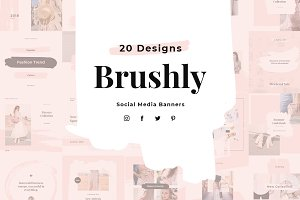 Brushly Social Media Pack